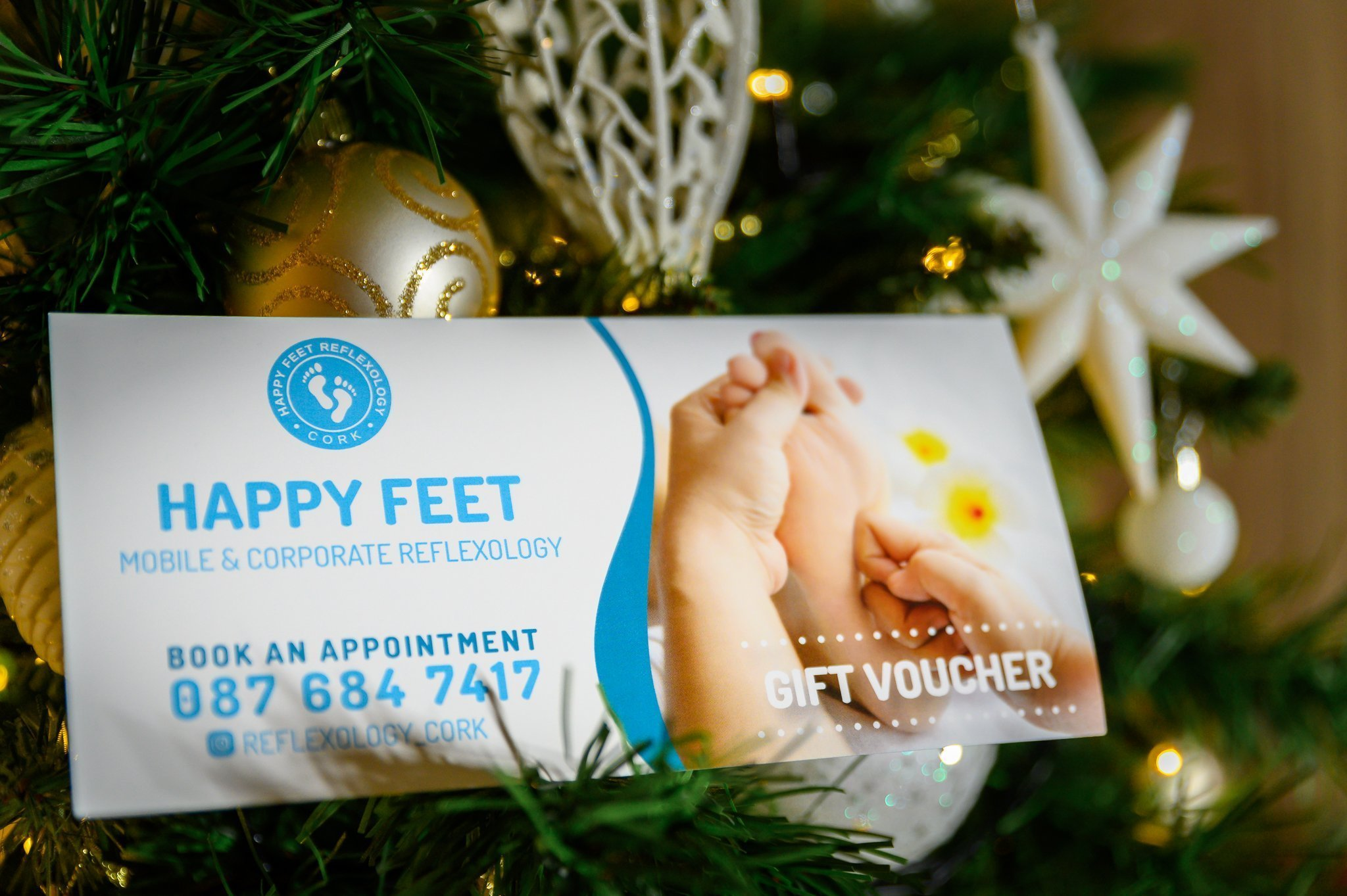 happy feet reflexology christmas gift voucher